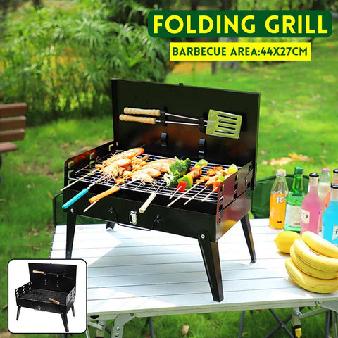 NEW Foldable BBQ Grill Rack Portable Camping Picnic Mini BBQ Grill Rack Barbecue Accessories Cooking Tools for Home and Outdoor