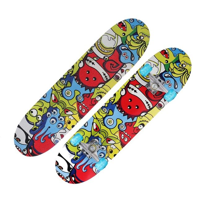 31inch Flashing Wheel Skateboard Cruiser Board Wooden Board 31.49x7.87x3.93inch Longboard Skate Complete Boy Girl Led Light