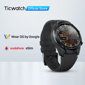 TicWatch Pro 4G/LTE EU Version 1GB RAM Sleep Tracking IP68 Waterproof Watch NFC LTE for Vodaphone in Germany Men's Sports Watch