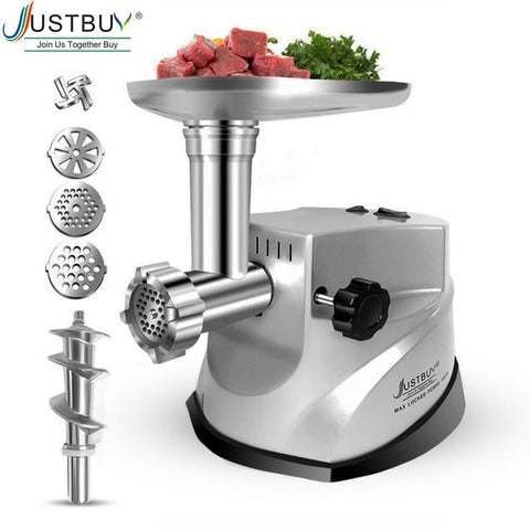 3000W Max Heavy Duty  Powerful Electric Meat Grinder Home Sausage Stuffer Meat Mincer Food Processor