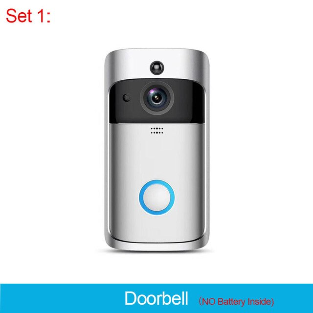 ZWN Smart Wireless Doorbell Intercom 720P Phone Call Door Bell Camera Infrared Remote Record Home Security Monitoring