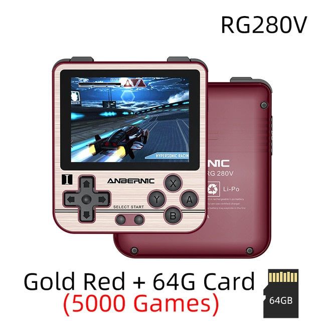 RG280V ANBERNIC Retro Game Console Open Sourse System CNC Shell PS1, Handheld Game Console - WizWack