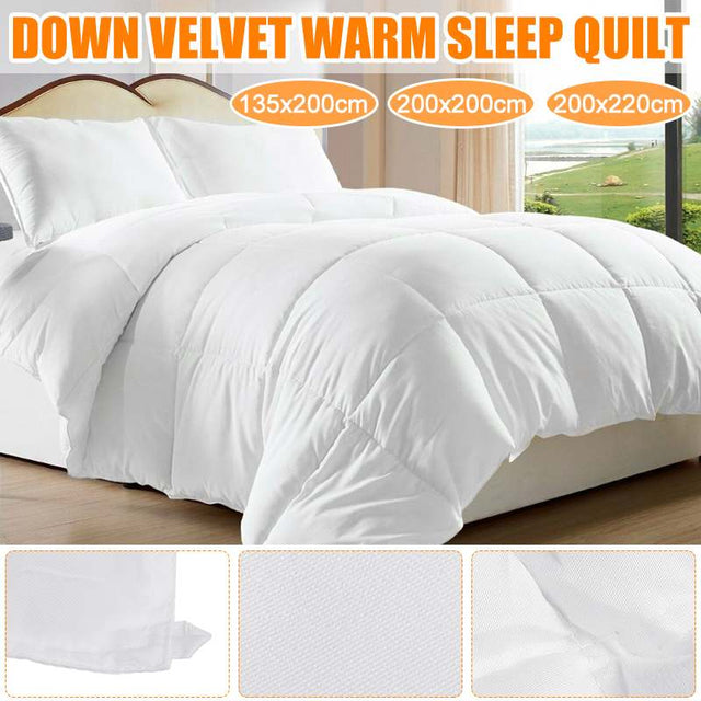 100% White Goose Down Comforter for Winter Autumn Duvet Insert Blanket Filling Feather Down Quilt Duvet King/Double/Single Size