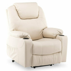 Electric Motorized Massage Chair Power Lift Ergonomic Leather Lounge Recliner Heated Massage