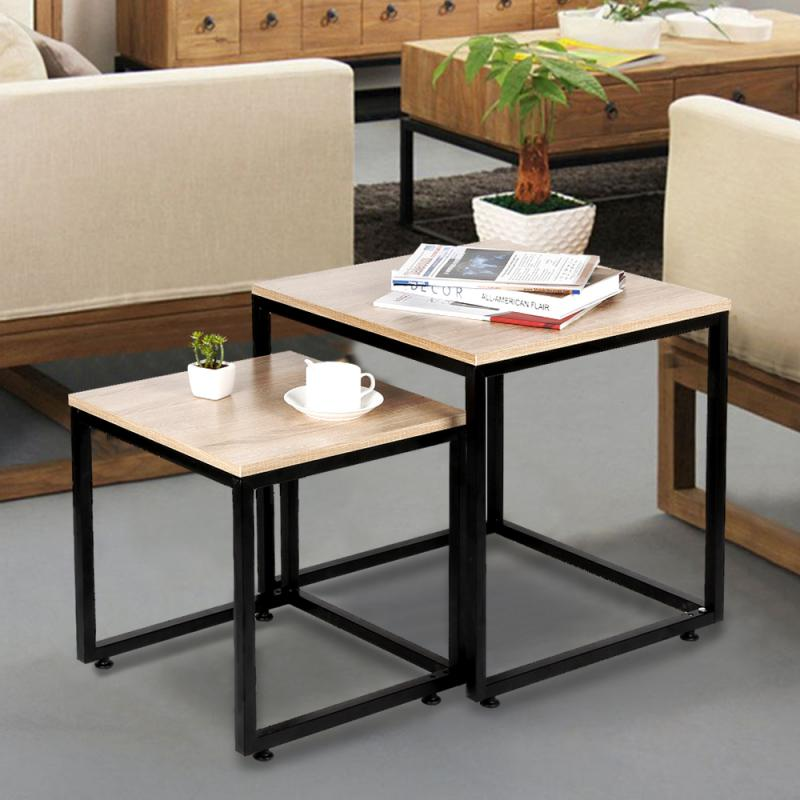 2Pcs Large And Small Coffee Table Minimalist Modern Style Household Furniture Set for Living Room - WizWack