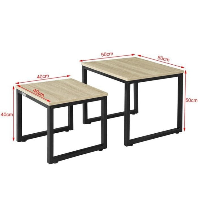 2Pcs Large And Small Coffee Table Minimalist Modern Style Household Furniture Set for Living Room Easy Assembly Center Table HWC