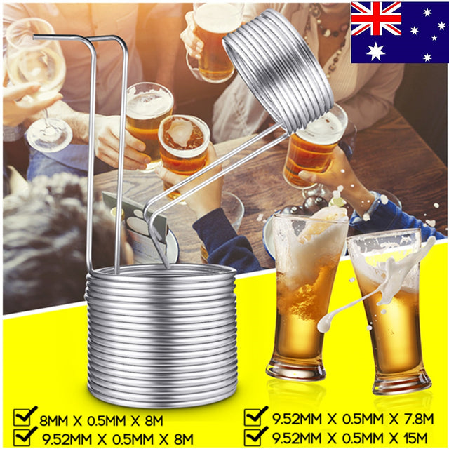 6 Sizes Stainless Steel Immersion Wort Chiller Tube For Home Brewing Super Efficient Wort Chiller Home Wine Making Machine Part