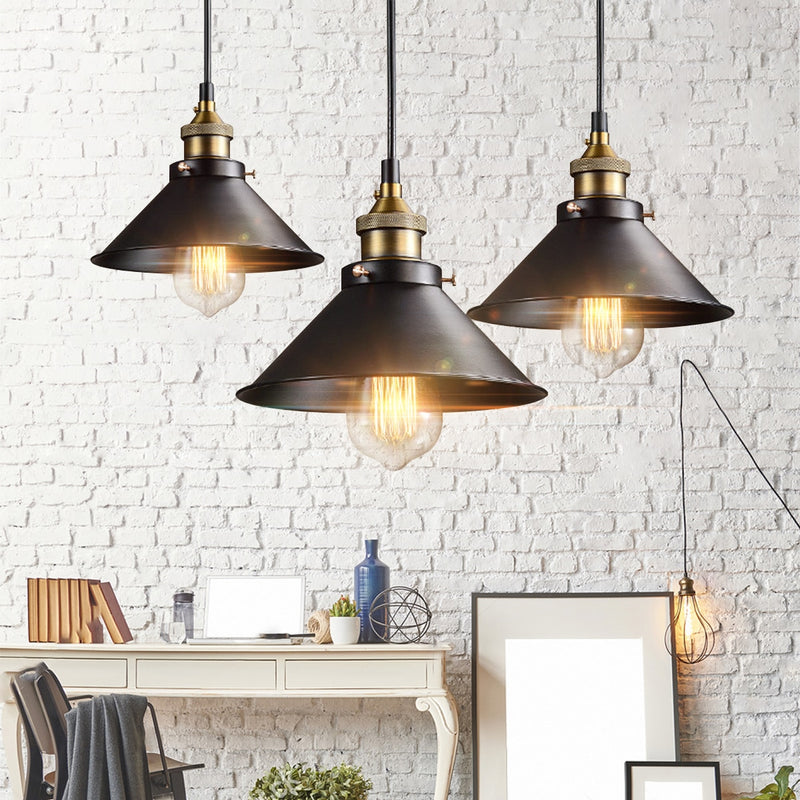 Nordic Vintage Pendant Light Loft Hanging Light Fixtures Retro Industrial Lamp Edison Bulb for Dining Room Kitchen