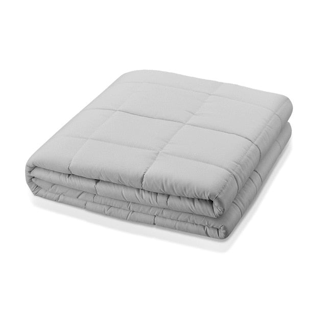 Upgraded Adult Weighted Blanket Cooling Cotton Heavy Comforter Aid Sleep Relief Pressure Weighted Quilt Bed Sofa Throw Blankets - WizWack