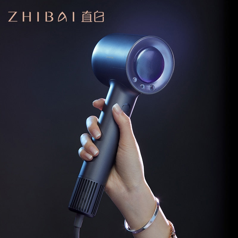 ZHIBAI Professional High Speed Hair Dryer For Hair Thermostatic Strong Wind Blow Dryer for Home Travel Dryer Portable Hairdry - WizWack