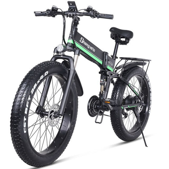 Electric bicycle 1000W  Fat Tire Electric Bike 48V Adult ebike Mountain Cycling Bicycle  48V12.8AH Lithium Battery Shengmilo