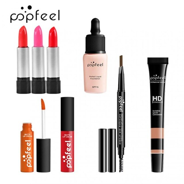 Cosmetic Makeup Eyeshadow Lip Gloss Concealer Brushes