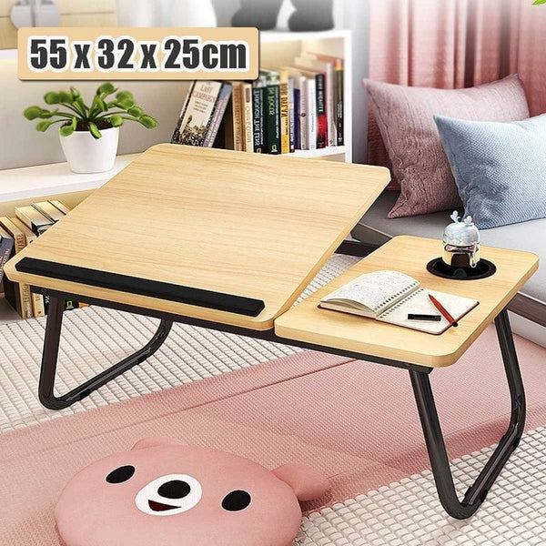 Adjustable Foldable Desk Shelf Dormitory Bed Laptop Stand Book Reading Laptop Studying Table Size 55 x 32 x 25cm