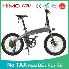 Image of 【EU STOCK NO TAX】HIMO C20 Electric Bicycle 250W DC Motor ebike 25km/h 80KM Mileage Outdoor Urban e bike 20 inch Tire
