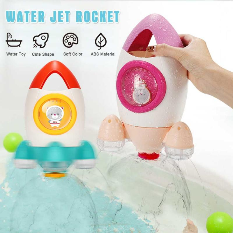Bath Toys  Summer In Bathroom Water Playing Toy Rocket Fountain Water Spraying Rotary Beach Toy Baby's Swimming Toys - WizWack