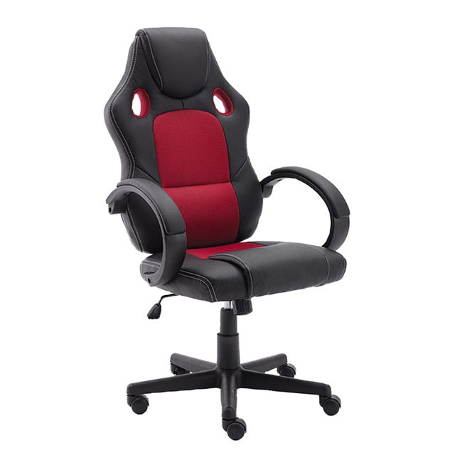 Office Chair PU Leather Desk Gaming Chair, Ergonomically Adjustable Racing Chair, Tasks Swivel Executive Computer Chair - WizWack