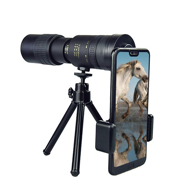 New 4K 10-300X40mm Super Telephoto Zoom Monocular Telescope Portable Binoculars Zoom High Quality HD Hunting Optics Scope