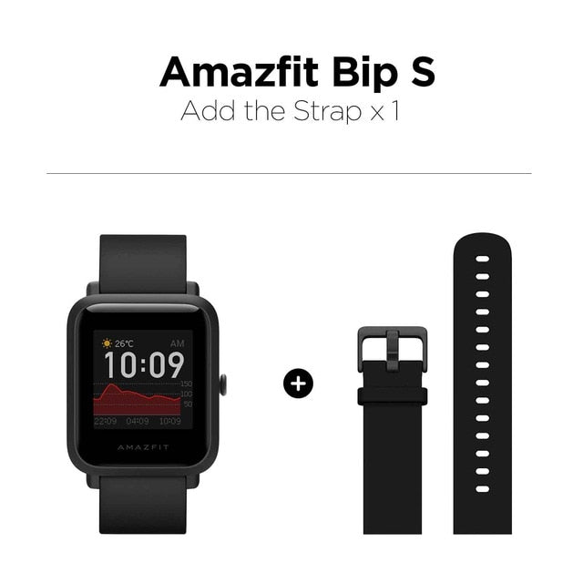 Global Amazfit Bip S Smartwatch, 5 ATM waterproof built in GPS, Bluetooth Smart Watch for Android & iOS - WizWack