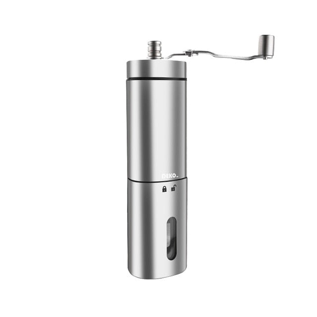 DEKO Hand Manual Coffee Portable Grinder Adjustable Ceramic Coffee Bean Mill Stainless Steel Kitchen Mills Tools