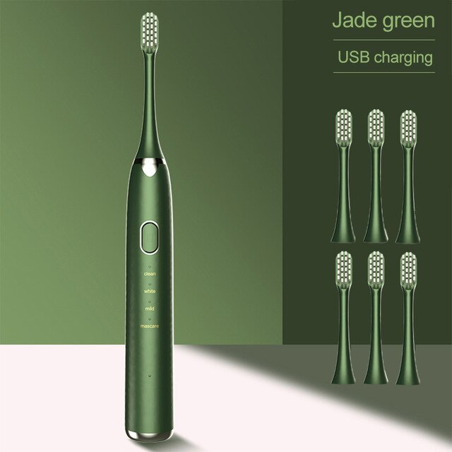 Sonic Electronic Toothbrush Avocado Green Fast Charge