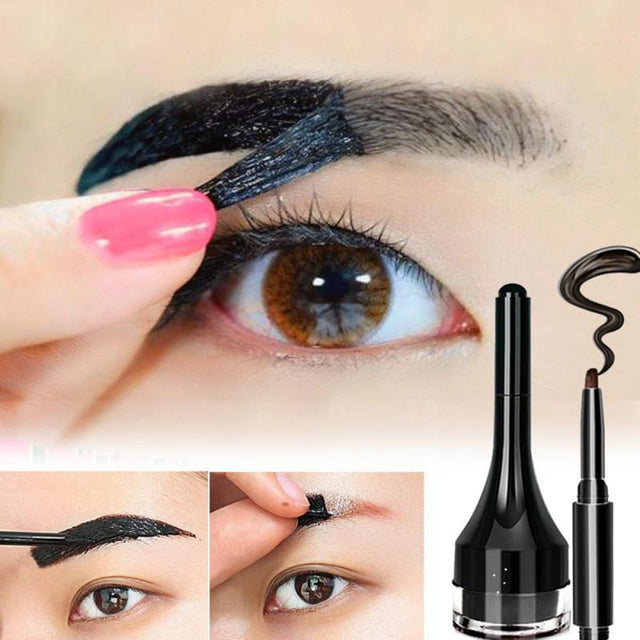 3 Colors Long-lasting Eyebrow Gel Enhancer Eyebrow Pencil Natural Waterproof Brown Tattoo Eyebrow Cream Makeup Eyebrow