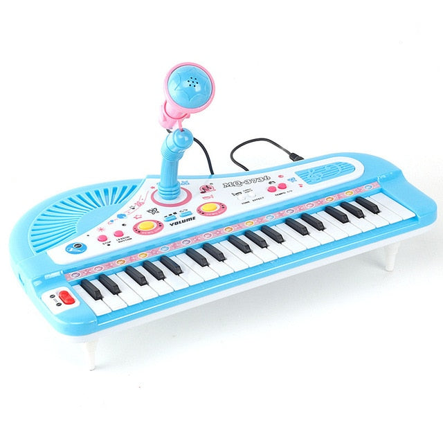 Musical Toys Kids Piano  Mini Electronic Organ Musical Piano Teaching Keyboard With Microphone Educational Toys For Kids Birthday prsent for children Gifts