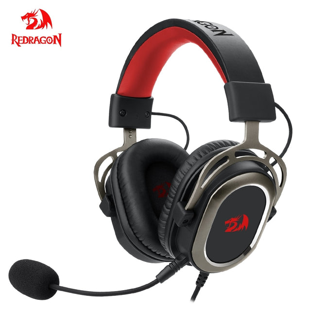 Redragon H710 Helios gaming Headphone Microphone Noise cancelling,7.1 USB Surround Computer headset Earphones EQ Controller