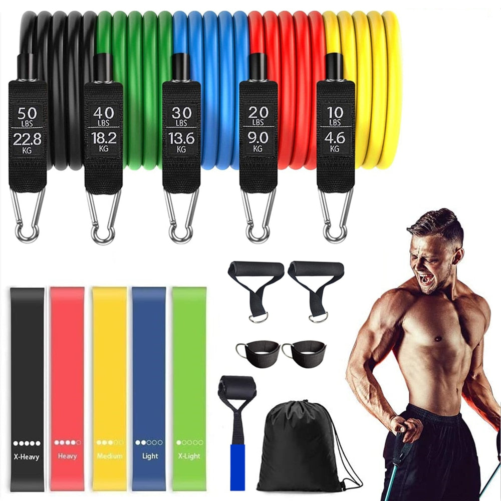 16 Pcs Resistance Bands Set