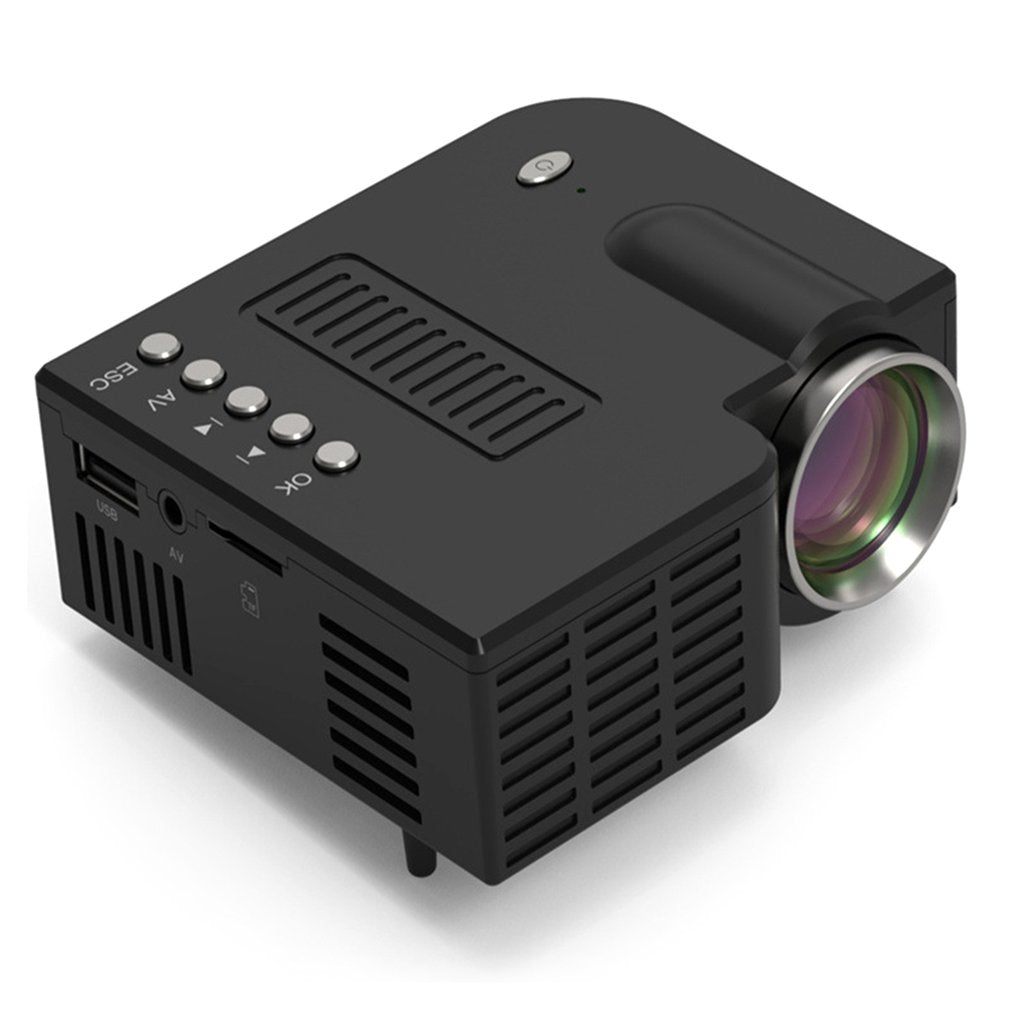 Portable Projector Wired Same Screen  Full HD Media Player LCD Projector Home Theater Movie Device Digital Projector