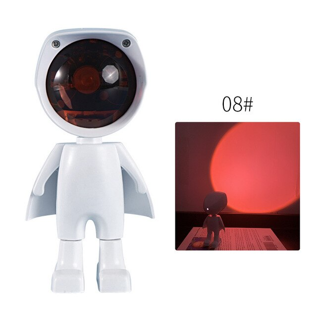 Robot Atmosphere Projection Lamp Sunset Projection