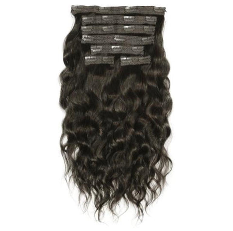 Wavy / Curly Set of 7 Clip on Extensions