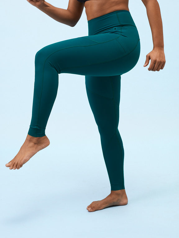 No-see-through leggings - Ocean Green