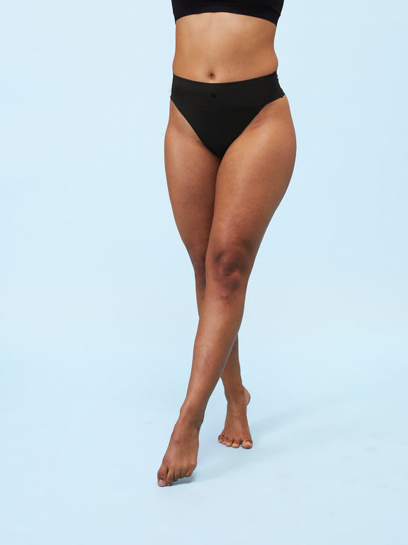Sweat-free sports undies - Thong - Black