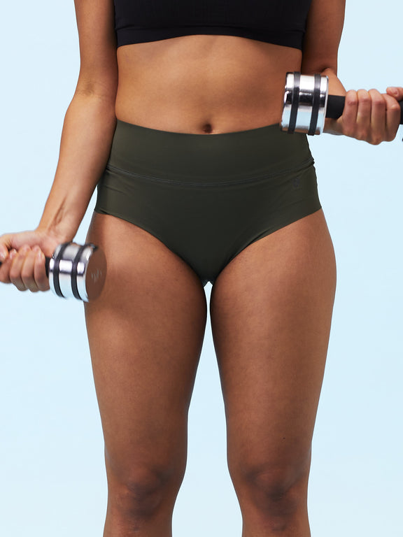 Sweat-free sports undies - Brief - Burnt Olive