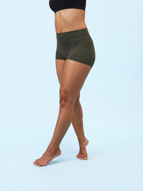 Sweat-free sports undies - Boy Short - Burnt Olive