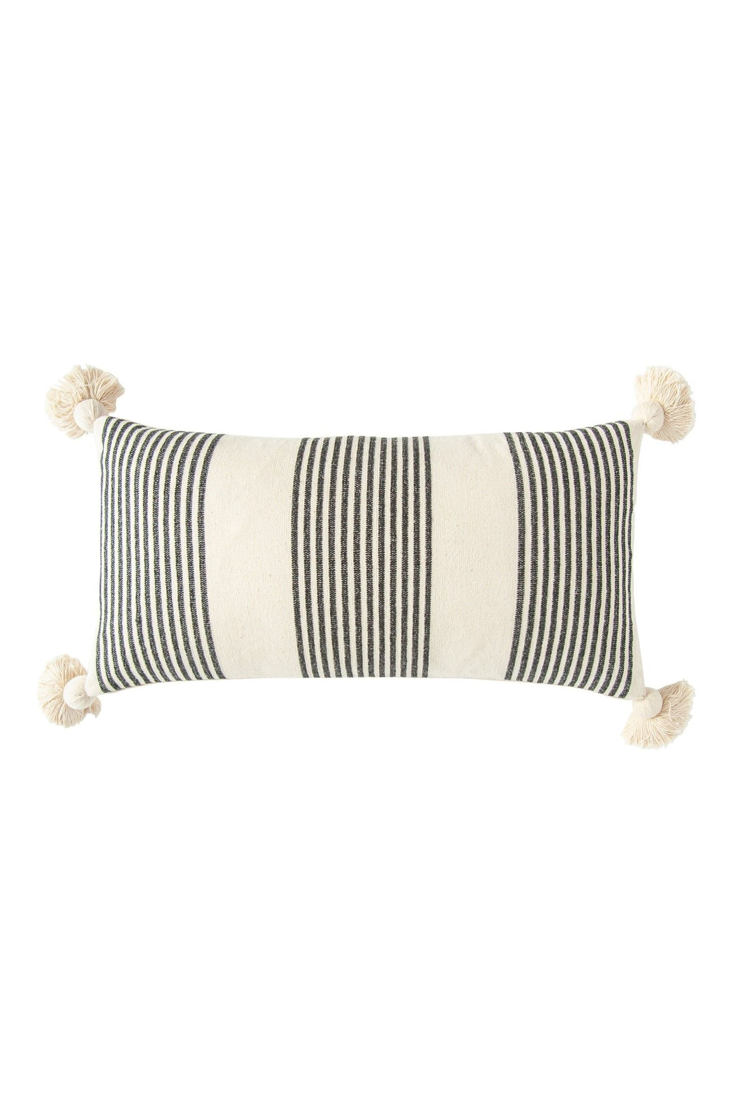 Perry Striped Lumbar Pillow Black And White Cove Goods