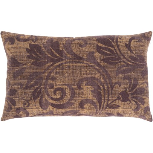 Laurel Lumbar Pillow Cover, Eggplant