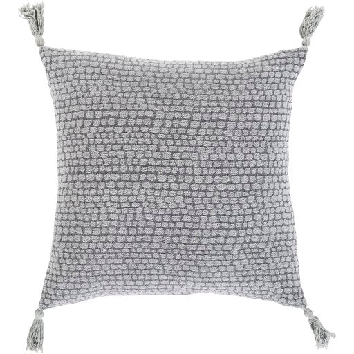 Hadlee Dot Pillow, Gray