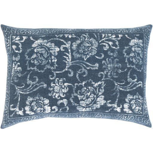 Laurel Lumbar Pillow Cover, Blue