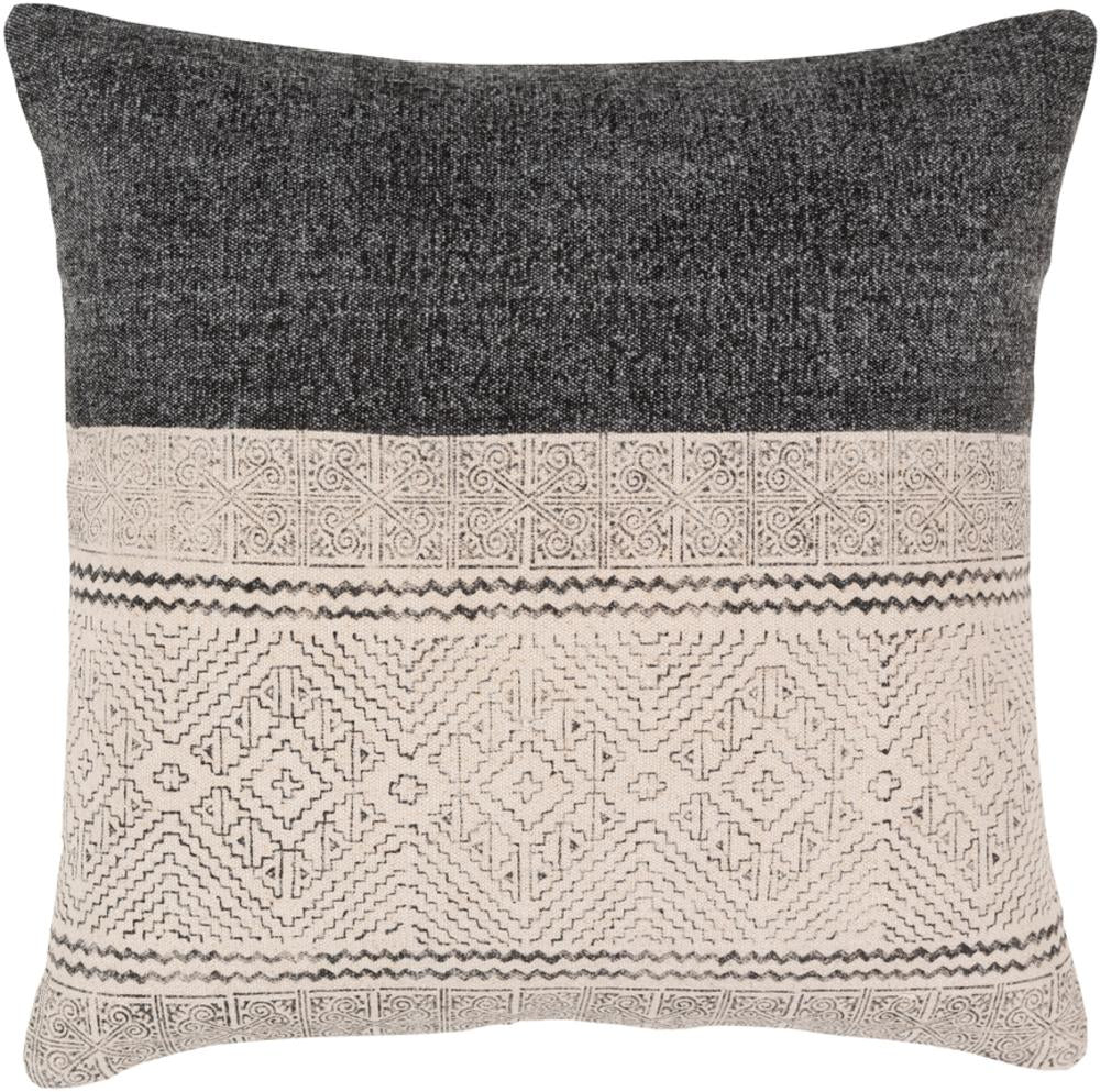 Sariah Pillow Cover, Black