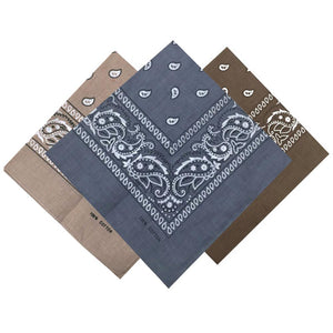 3/6/12/24Pcs 100% Cotton Paisley Print Head Bandanas