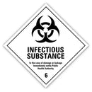 Sticker - class 6.2 infectious substance