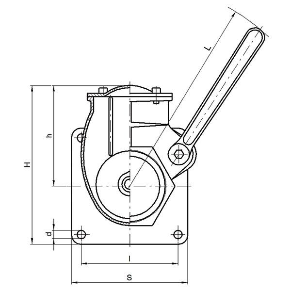 Gate valve with lever