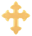 Flat Gothic Cross Plastic Ornament