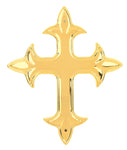 Raised Gothic Cross Plastic Ornament