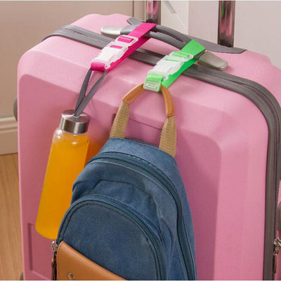 Button Buckle Adjustable Security Portable Bag and Suitcase  Hanger -Luggage Strap Belt - Affordable Travelgear