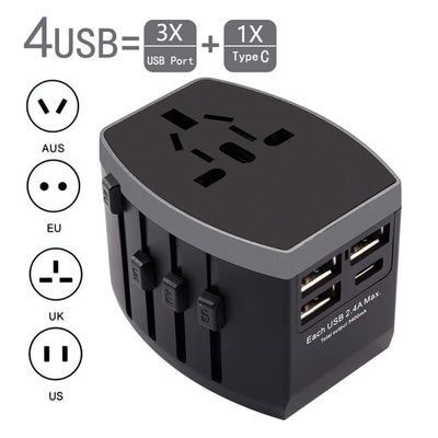 International Universal Power Travel Adapter - Affordable Travelgear