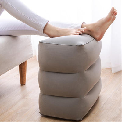 Inflatable Foot Pad & foot rest Travel Pillow -Height Adjustable - Affordable Travelgear