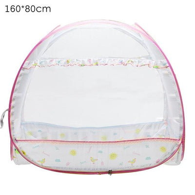 Safety Pop Out Tent Mosquito Net- Automatic Double Door Crib - Affordable Travelgear