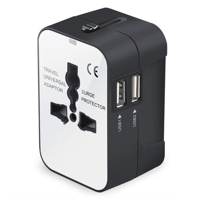 Universal international Adapter  Wall Charger -Dual USB Charging Ports - Affordable Travelgear